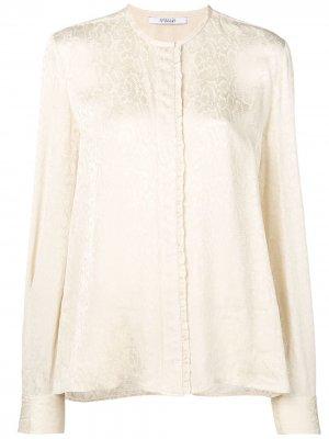Атласная блузка со змеиным принтом Derek Lam 10 Crosby. Цвет: нейтральные цвета