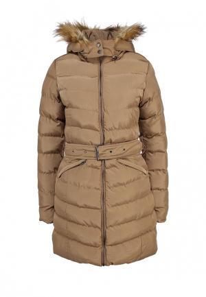 Куртка утепленная Camelot. Цвет: бежевый