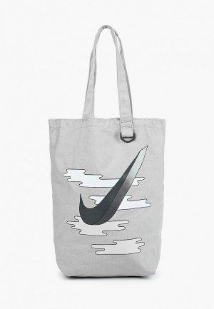 Сумка Nike NK HERITAGE TOTE - GFX. Цвет: серый