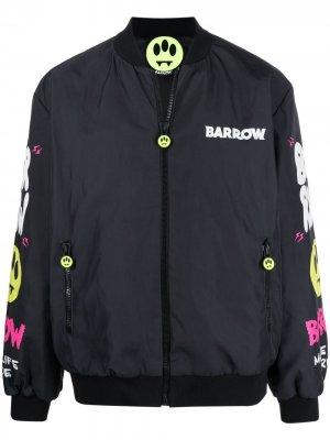 Бомбер с логотипом BARROW. Цвет: черный