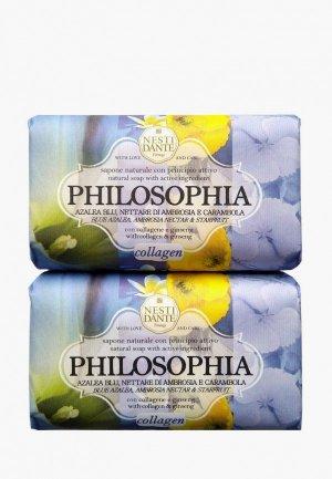 Набор для ухода за телом Nesti Dante Мыло Philosophia Collagen/ Философия Коллаген, 2*250г. Цвет: разноцветный