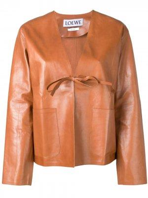 Кожаная куртка LOEWE. Цвет: коричневый