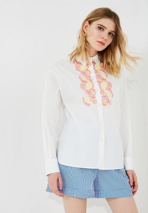 Рубашка Boutique Moschino. Цвет: белый