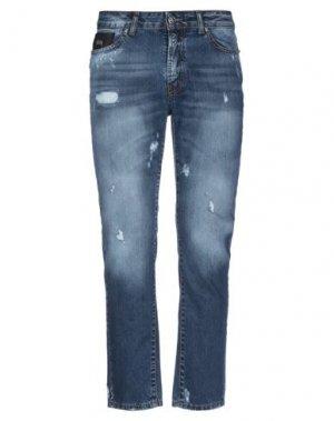 Джинсовые брюки JOHN RICHMOND. Цвет: синий
