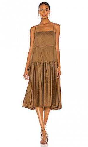 Платье Enza Costa. Цвет: коричневый