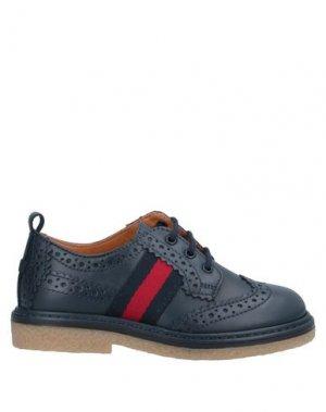 Обувь на шнурках GUCCI. Цвет: темно-синий
