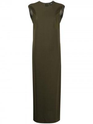 Однотонное платье прямого кроя Aspesi. Цвет: зеленый