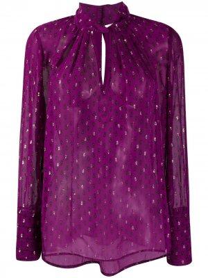 Блузка с длинными рукавами и принтом пейсли Ba&Sh. Цвет: фиолетовый