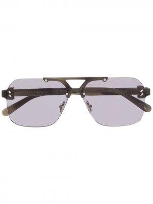 Солнцезащитные очки Sc0225s Stella McCartney. Цвет: серый