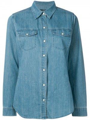 Классическая джинсовая куртка J Brand. Цвет: синий
