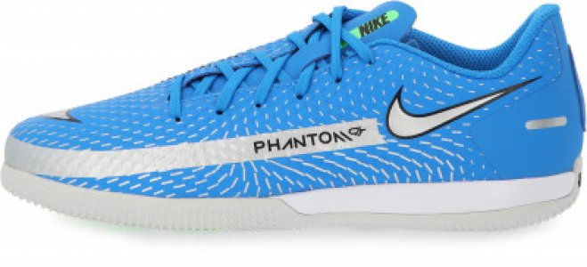 Бутсы для мальчиков Jr Phantom GT Academy IC, размер 34 Nike. Цвет: голубой