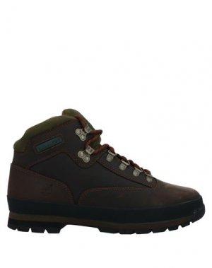 Полусапоги и высокие ботинки TIMBERLAND. Цвет: темно-коричневый