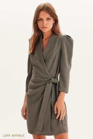 Платье-пиджак на запах LOVE REPUBLIC