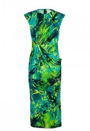 Платье VERSACE. Цвет: зеленый