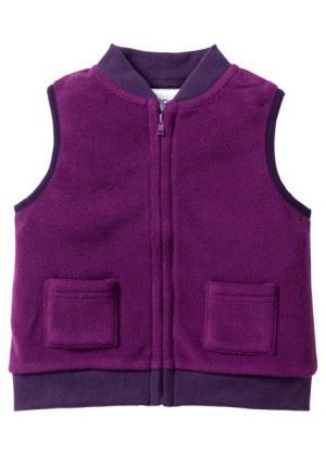 Для малышей: флисовый жилет + флисовые брюки (2 изд.) (лиловая фиалка/темно-лиловый) bonprix. Цвет: лиловая фиалка/темно-лиловый