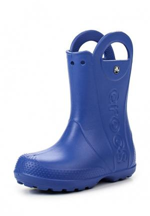 Резиновые сапоги Crocs Handle It Rain Boot Kids. Цвет: синий