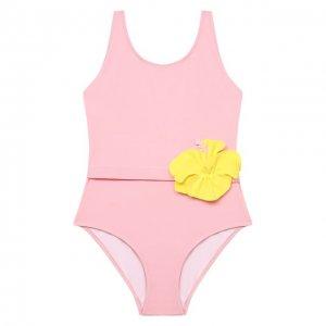 Слитный купальник Il Gufo. Цвет: розовый