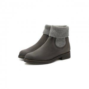 Замшевые ботинки Baldan. Цвет: серый