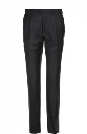 Классические шерстяные брюки Brioni. Цвет: темно-синий