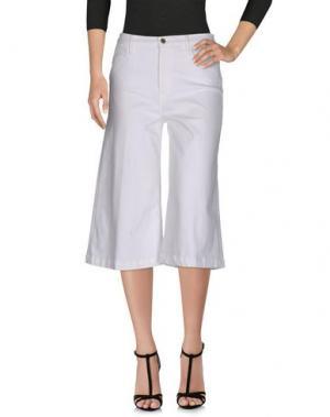 Джинсовые брюки-капри FRAME. Цвет: белый
