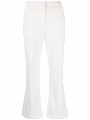 Cropped flared trousers Aspesi. Цвет: белый