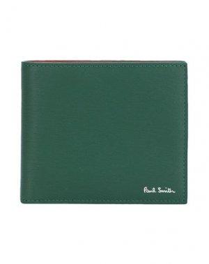 Бумажник PAUL SMITH. Цвет: зеленый