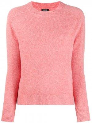 V-neck fine knit jumper Aspesi. Цвет: розовый