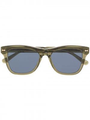 Солнцезащитные очки в квадратной оправе Gucci Eyewear. Цвет: зеленый