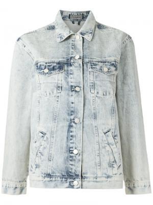 Выбеленная джинсовая куртка Amapô. Цвет: синий