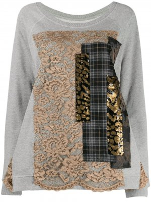 Patchwork sweatshirt Antonio Marras. Цвет: серый