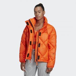Утепленная куртка by Stella McCartney adidas. Цвет: оранжевый
