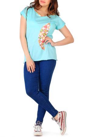 Блуза-футболка Artwizard. Цвет: зеленый