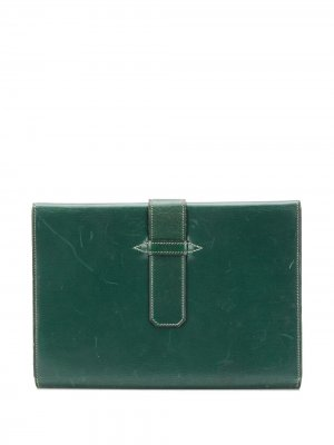 Персональный органайзер 1940-х годов Hermès. Цвет: зеленый