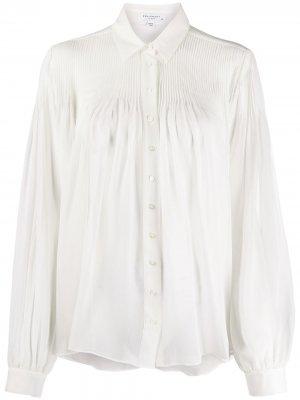 Плиссированная блузка Equipment. Цвет: белый
