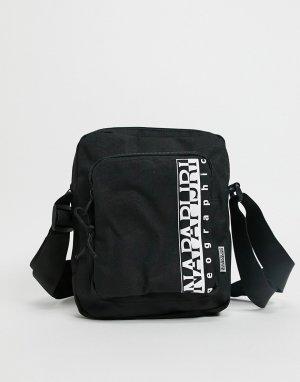 Черная сумка через плечо среднего размера Happy-Черный Napapijri