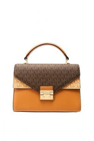 Коричневая сумка Sloan Michael Kors. Цвет: коричневый