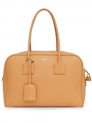 Большая сумка-тоут Half Cube Burberry. Цвет: коричневый