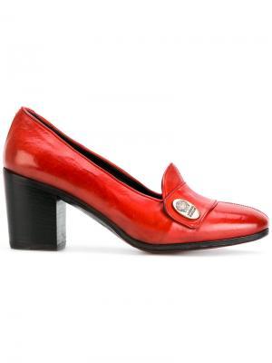 Туфли на массивном каблуке Alberto Fasciani. Цвет: красный