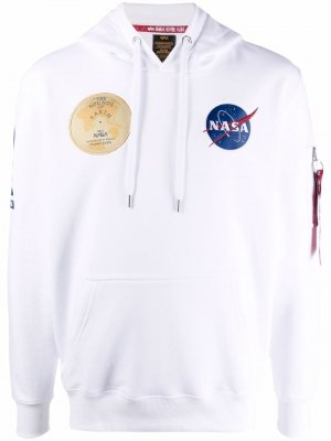 NASA patch hoodie Alpha Industries. Цвет: белый