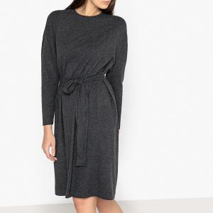 Платье-пуловер с ремешком PIPOUN AMERICAN VINTAGE. Цвет: антрацит