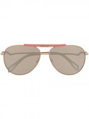 Солнцезащитные очки-авиаторы Pilote Eclair Zadig&Voltaire. Цвет: золотистый