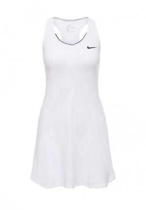 Платье Nike Womens NikeCourt Pure Tennis Dress. Цвет: белый