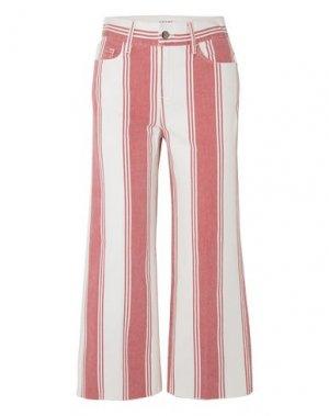 Джинсовые брюки-капри FRAME. Цвет: красный