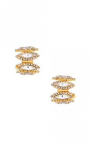Серьги-кольца paulette Elizabeth Cole. Цвет: металлический золотой