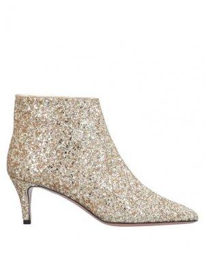 Полусапоги и высокие ботинки P.A.R.O.S.H.. Цвет: золотистый
