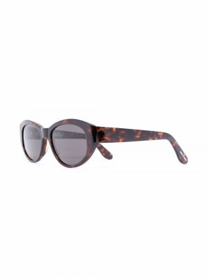 Солнцезащитные очки в оправе черепаховой расцветки Billionaire Boys Club. Цвет: коричневый