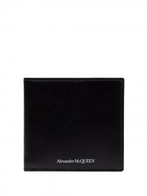 Складной кошелек Alexander McQueen. Цвет: черный