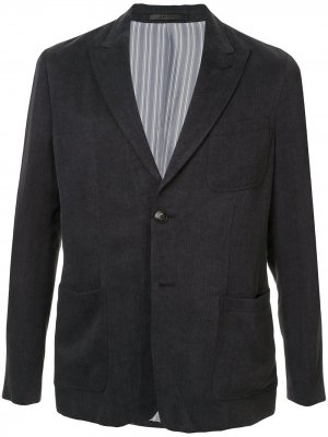 Однобортный пиджак с заостренными лацканами Giorgio Armani. Цвет: серый