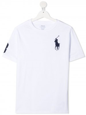 Футболка с вышивкой Polo Pony Ralph Lauren Kids. Цвет: белый