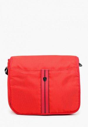 Сумка Ferrari для ноутбуков 13, Urban CMessenger Bag Nylon/PU Red. Цвет: красный